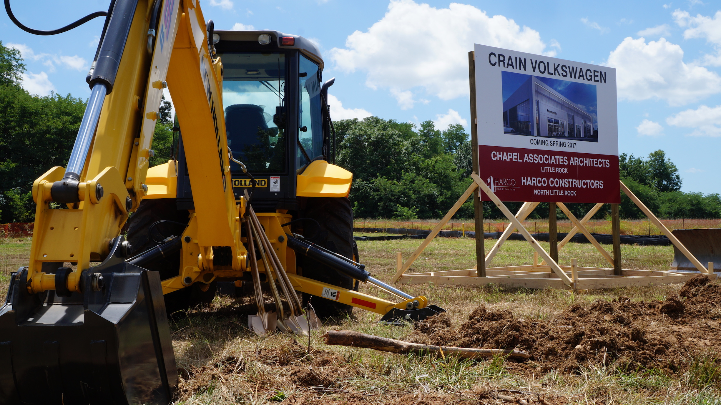 Crain Gmc Conway >> Crain VW Fayetteville Groundbreaking | Harco Full Service General Contractors Arkansas